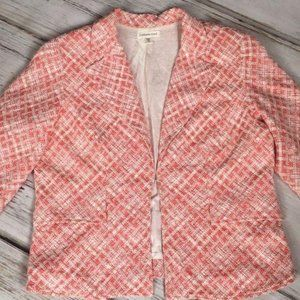 Coldwater Creek Blazer Jacket Embroidered 16 Red